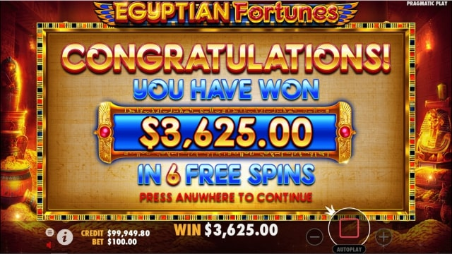 egyptian fortunes 6